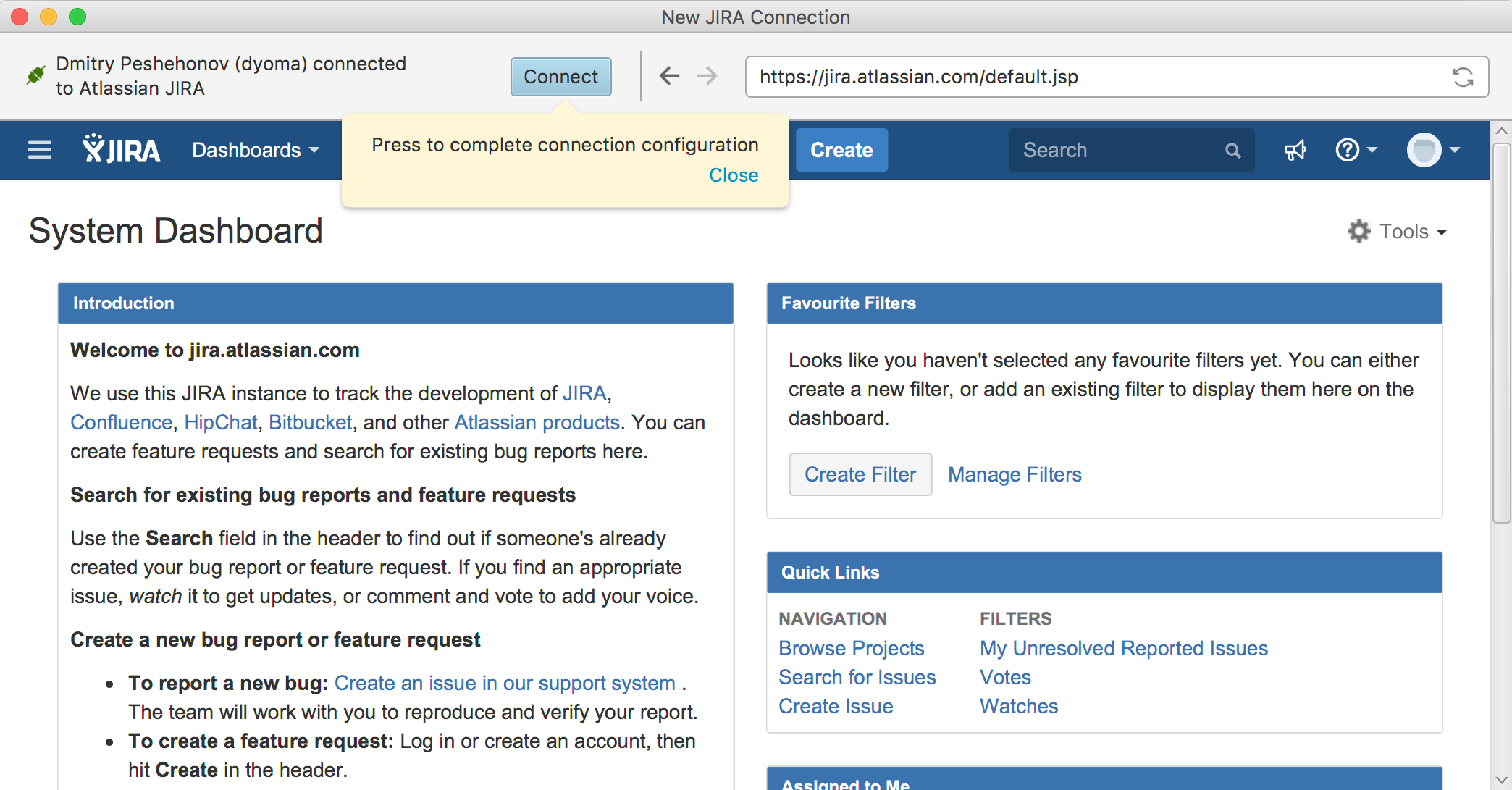 Connect with Web Browser - JIRA Client Reference - ALM Works