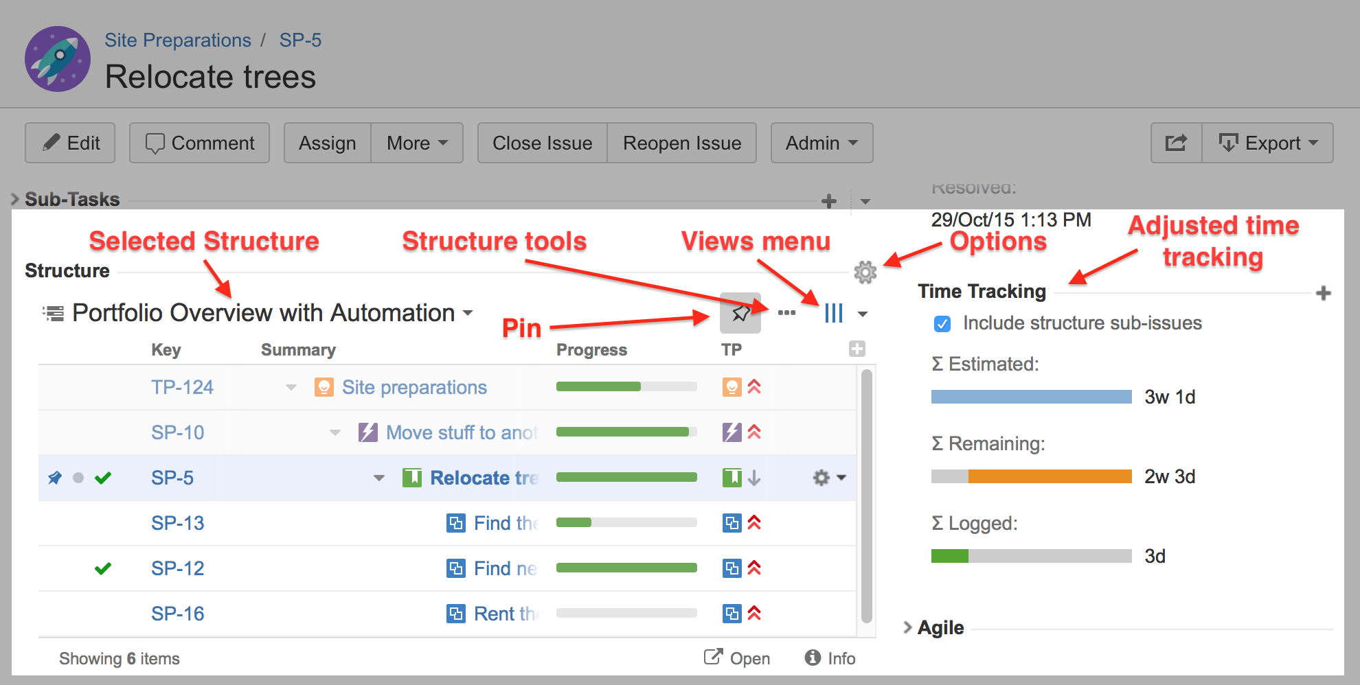 jira task template - structure on the issue page structure plugin for jira