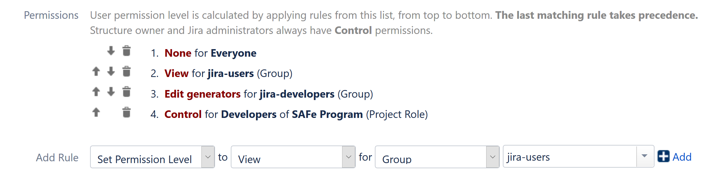Structure Permissions - Structure for Jira - ALM Works Knowledge Base
