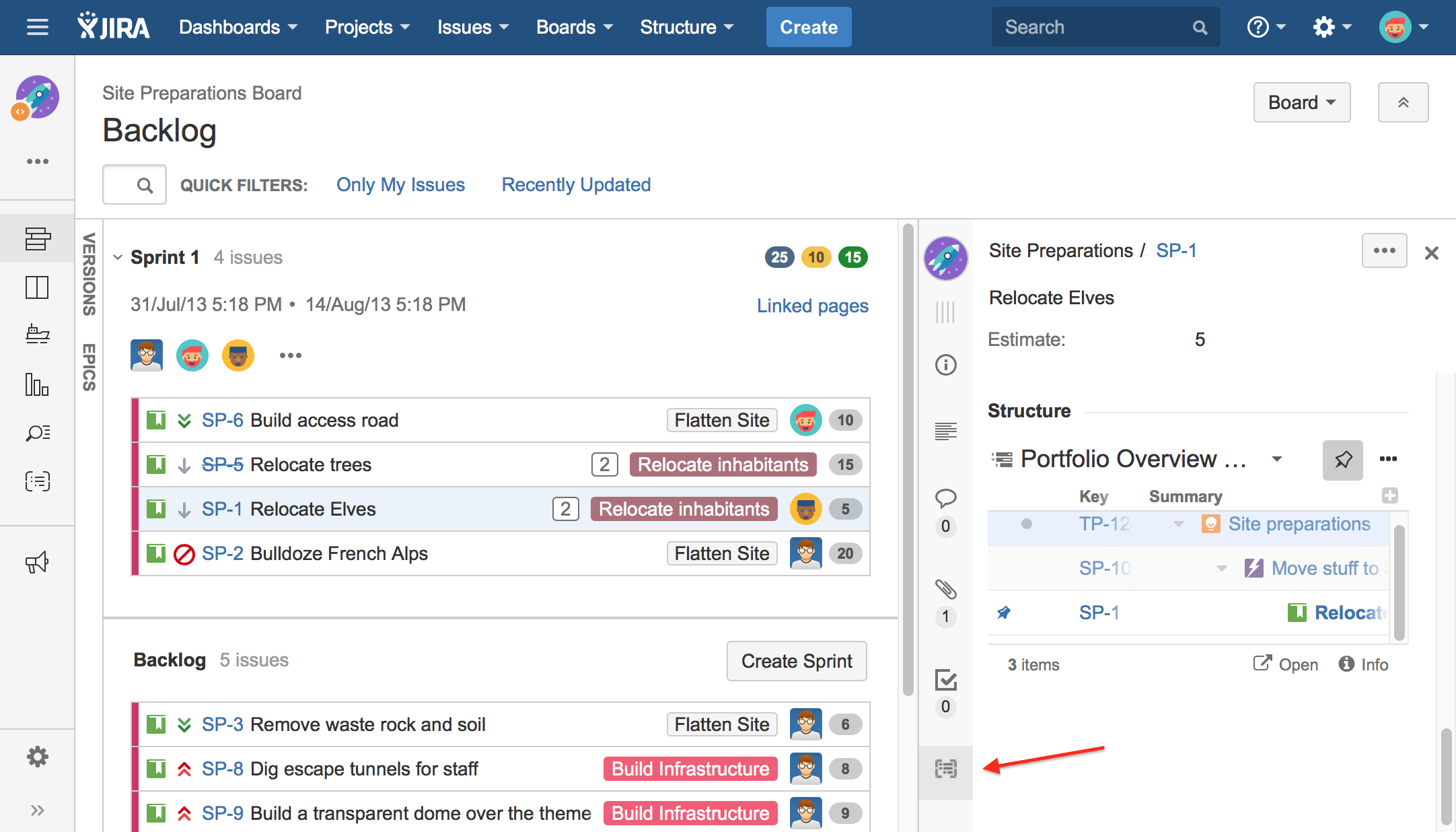 Structure On Agile Boards Structure Plugin For Jira Version 42